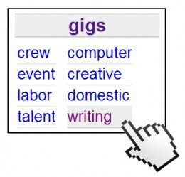 Searching the WRITING Gigs
