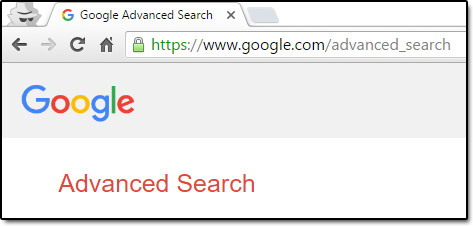 Go to Google's Advance Search