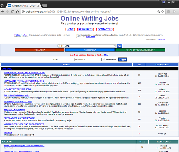 Online-Writing-Jobs.com debuted in 2006.