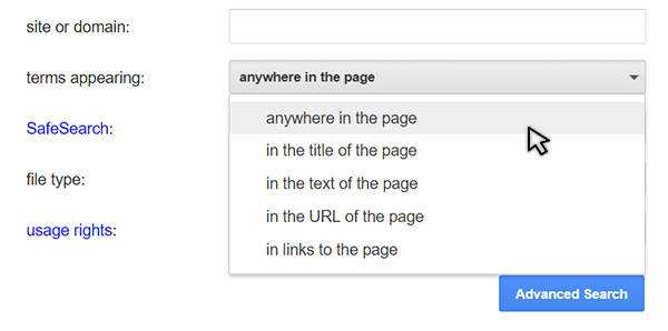 """Search """"Write for Us"""" anywhere in the page"""
